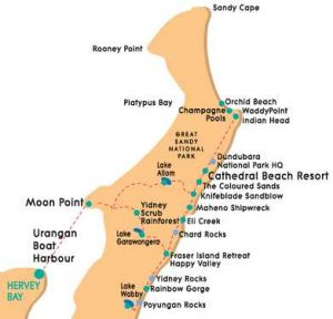 Orchid Beach Fraser Island Map